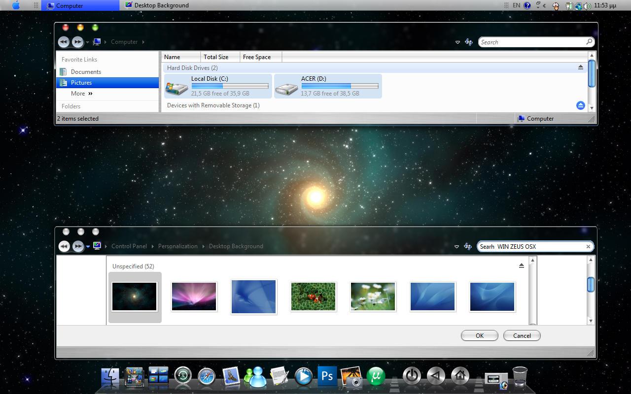 Mac OS X theme for WindowBlinds