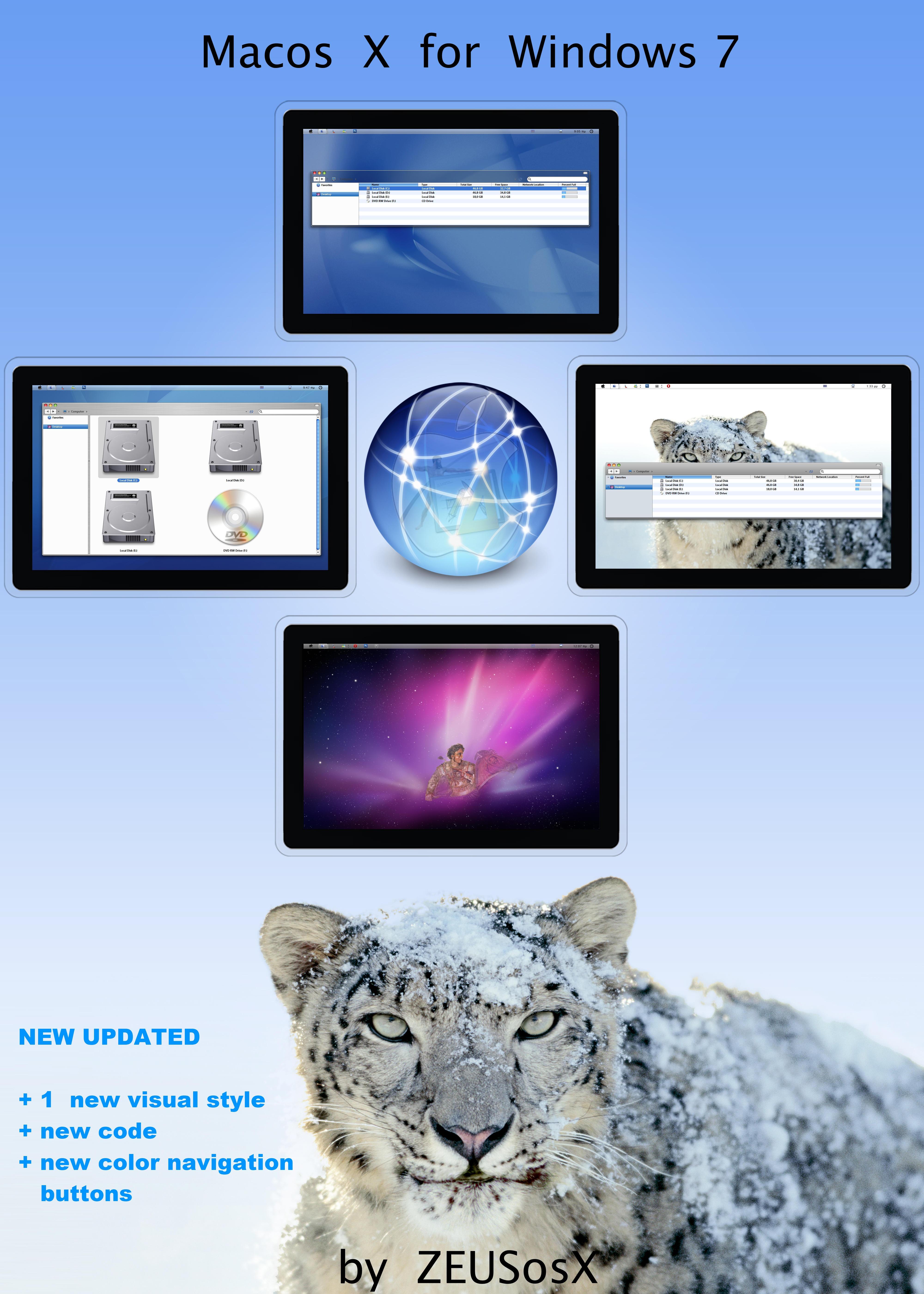 Macos X  for Windows 7 - 32bit by ZEUSosX