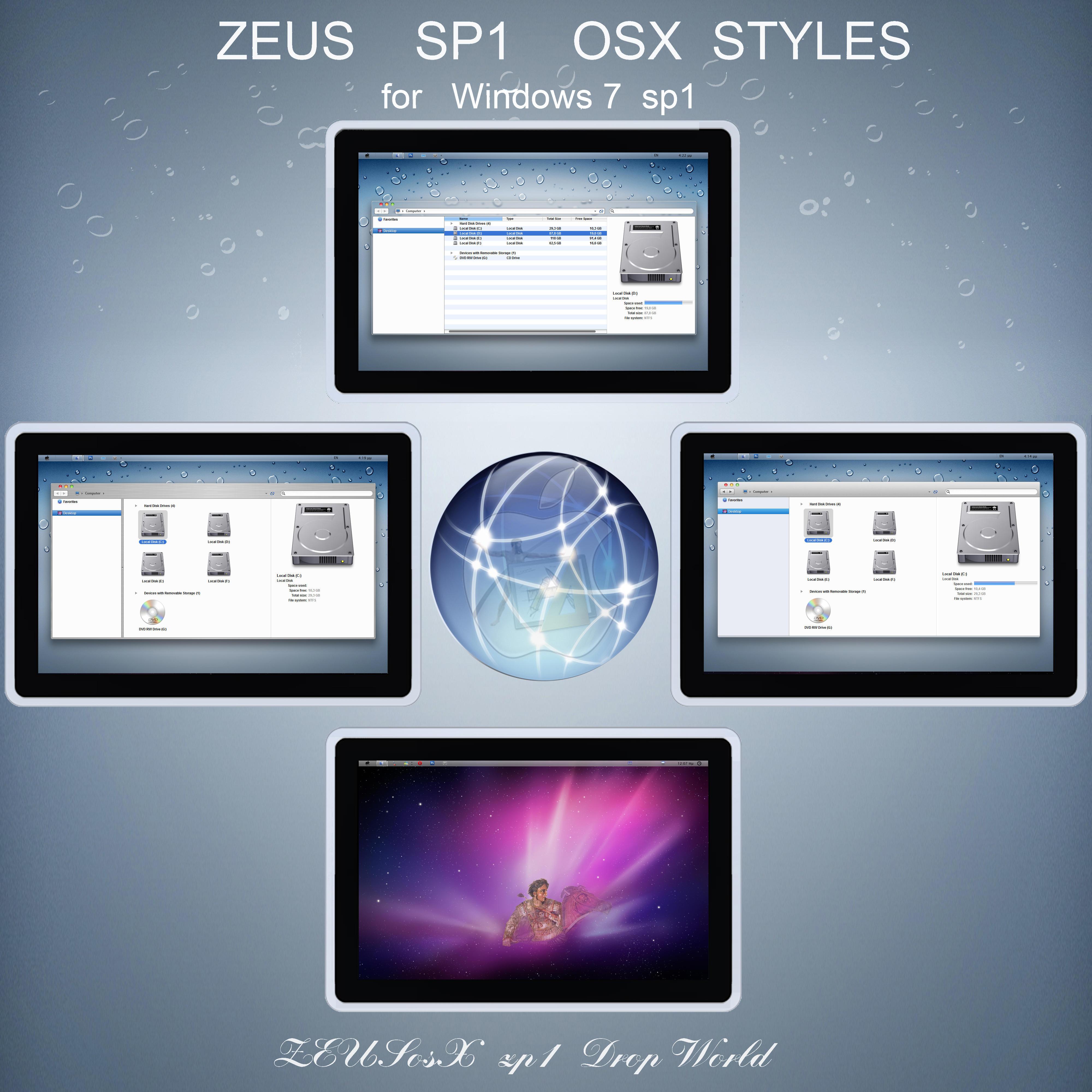 sp1 ZEUS osX  for Win 7  32bit by ZEUSosX