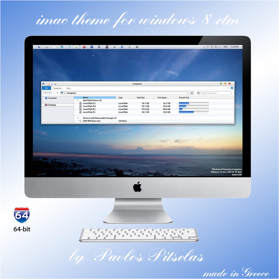 imac theme for Windows 8 RTM 64bit by ZEUSosX