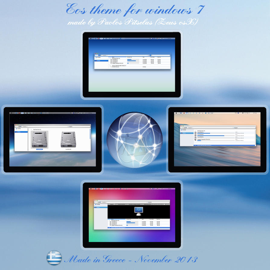 Eos (E operating system) (64bit) for windows 7 by ZEUSosX