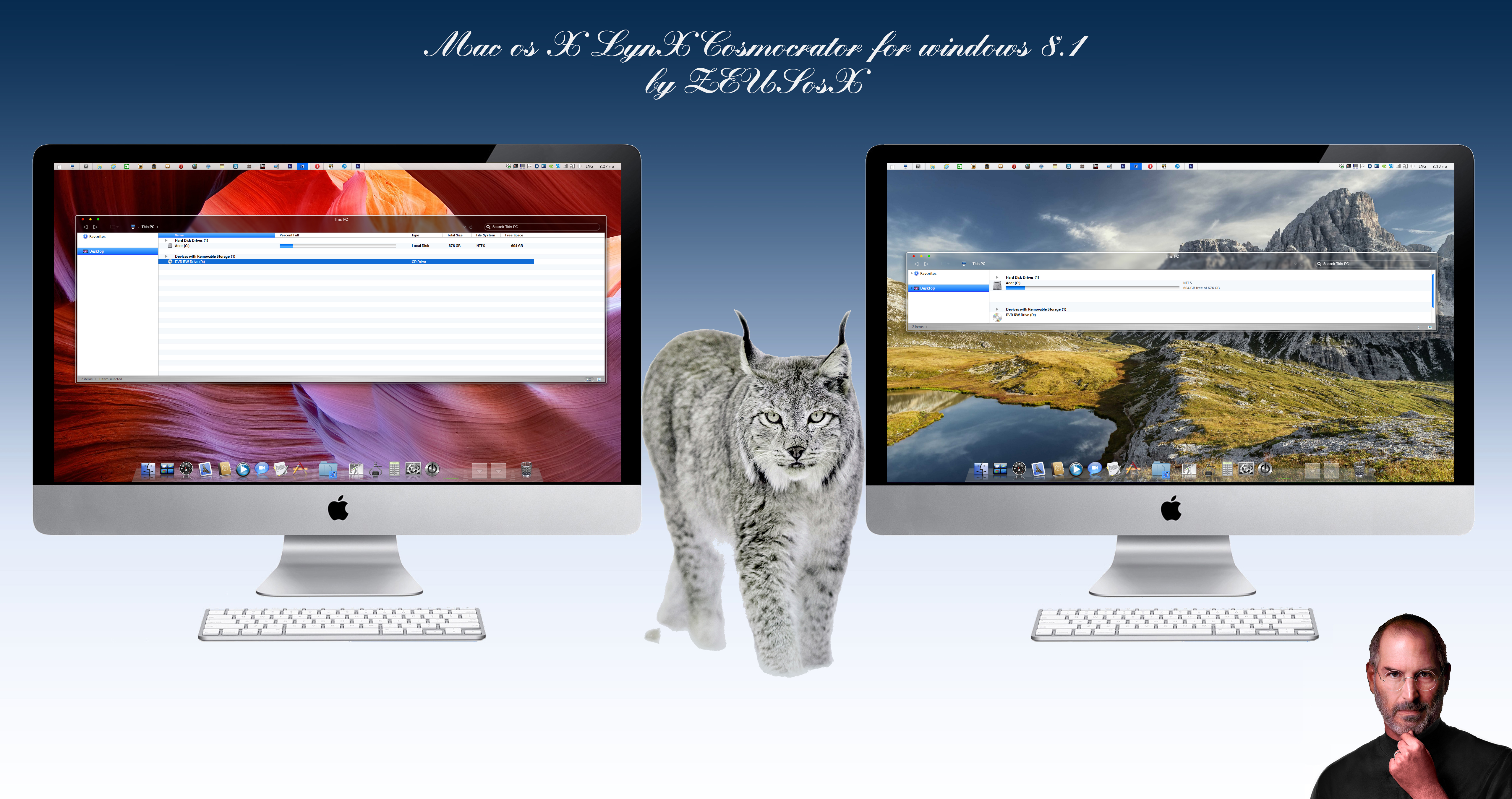 Mac os X LynX Theme for Windows 8.1 by ZEUSosX - OS
