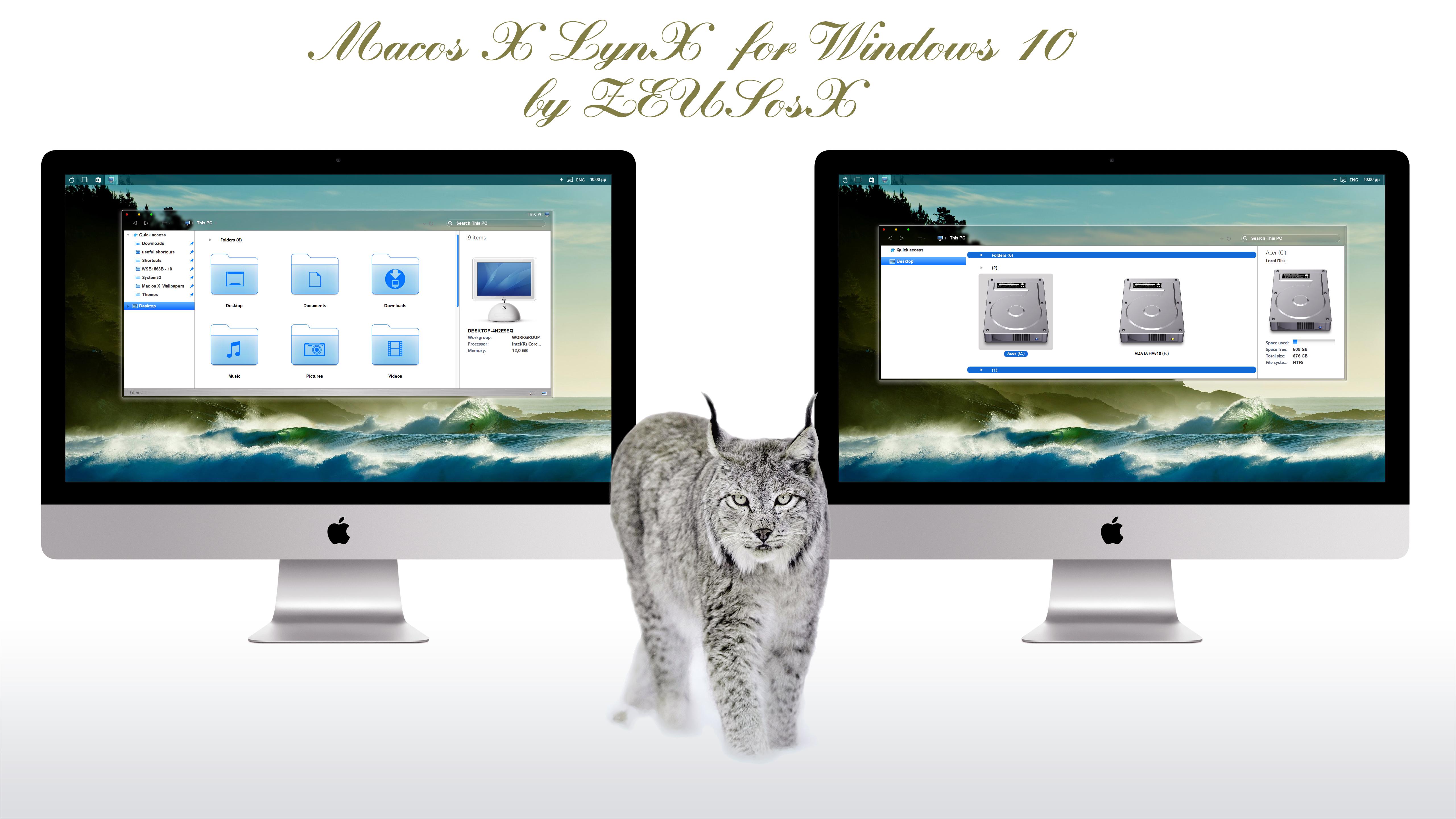 Mac os X LynX for Windows 10 rtm by ZEUSosX