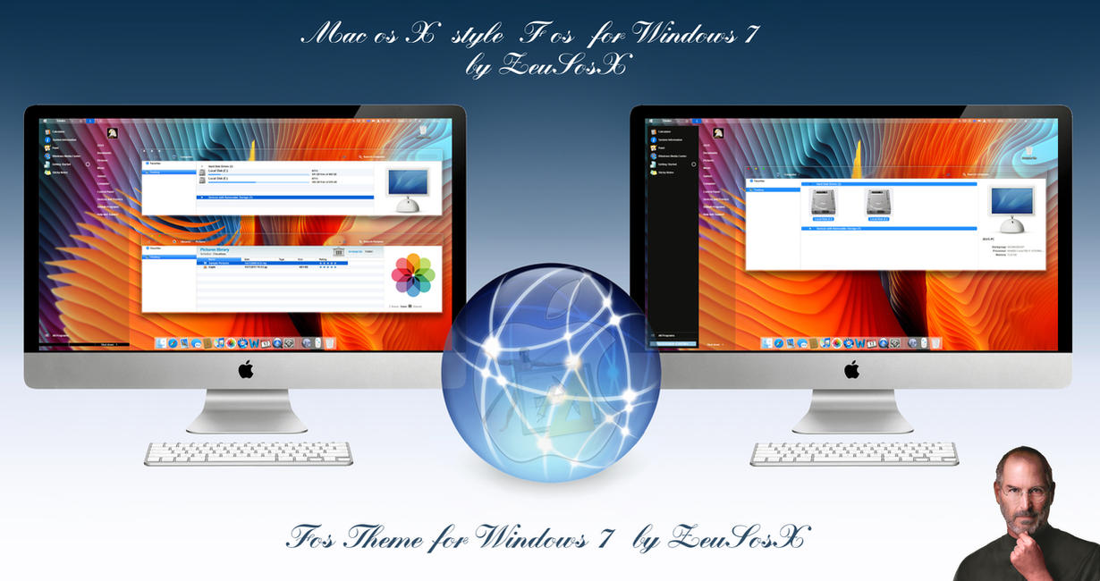 Macos X Fos for Windows 7 Theme by ZEUSosX