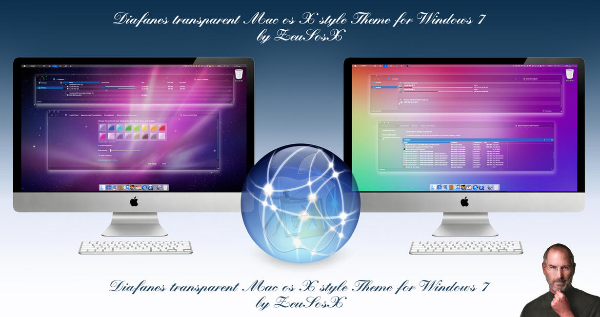 Diafanes Transparent osX style Themes for Windows7 by ZEUSosX