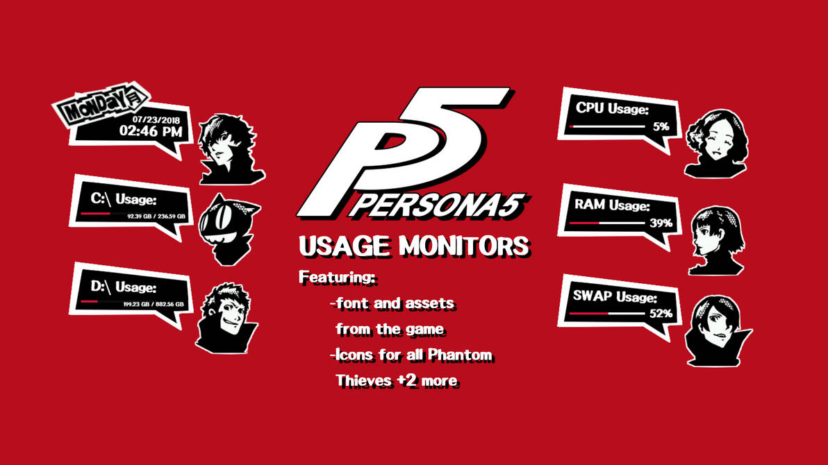Persona 5 Calendar Background