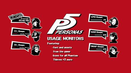 Persona 5 Rainmeter Measures by Faeriauro