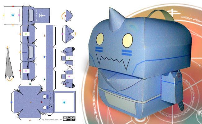Chibi Al-kun paper model by murz