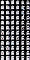 Napstablook- Emotes (72) + (30 animated!)