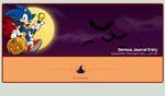 Sonic Halloween journal skin