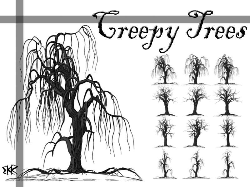 Creepy Tree Brushes by deathoflight