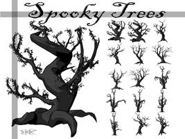 Spooky Tree Brushes by deathoflight