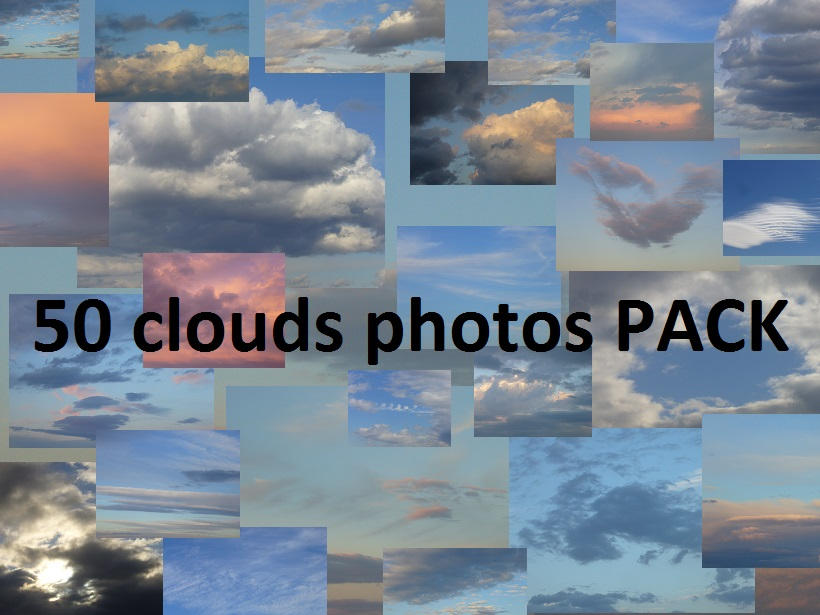 50 Clouds photos PACK
