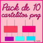 Pack de cartelitos png :DD