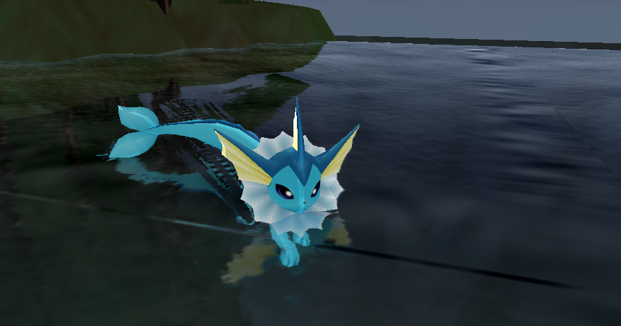 MMD Newcomer Vaporeon + DL by Valforwing