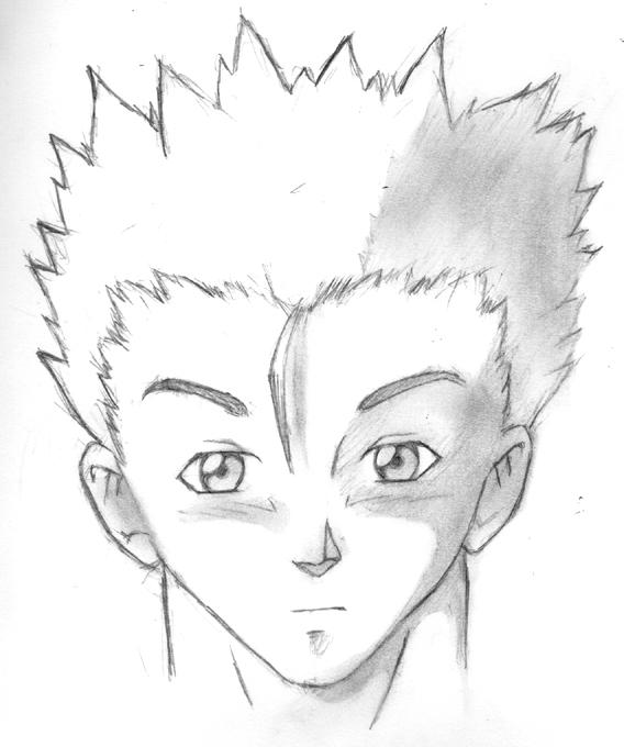 Simple Anime Male Face By Ninjacream