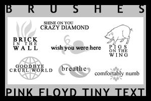 Pink Floyd Tiny Text Brushes by jojoMALFOY