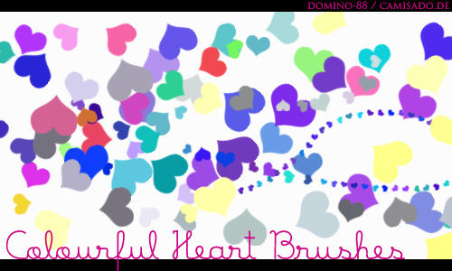 .13 - colourful heart brushes by domino-88