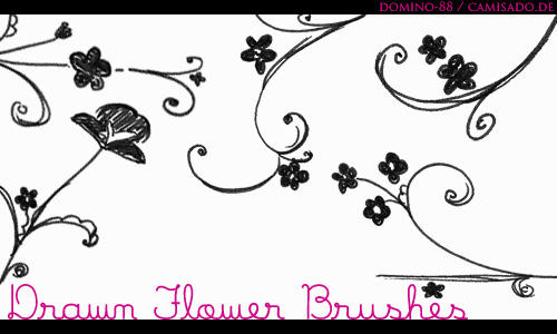 .15 drawn flower brushes by domino-88