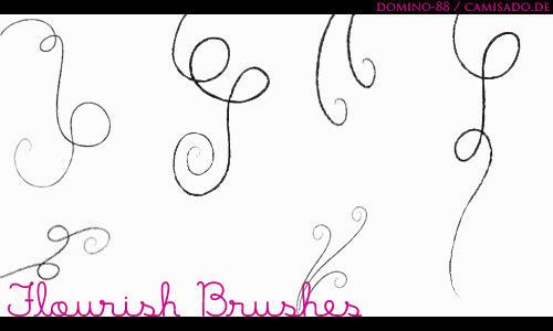 .17 - flourish brushes by domino-88
