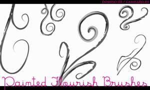 .22 - painted flourish brushes by domino-88