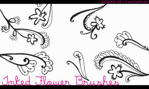 .23 - inked flower brushes