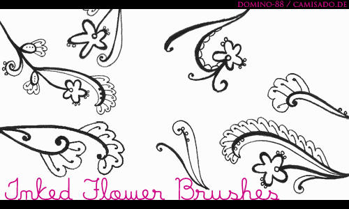 .23 - inked flower brushes by domino-88