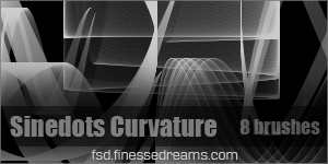 Sinedots Curvature Brushes by Blackbird97