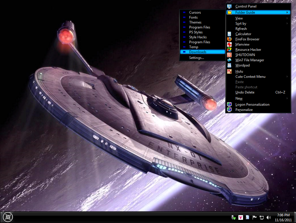 Win7 Star Trek Basic Theme by DasGingerBreadMan