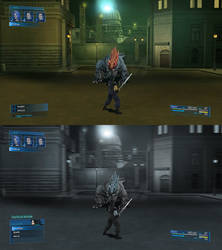 Crisis Core Final Fantasy VII HD Style HUD V.2 by A-Very-Merry-Q