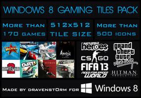 Metro Gaming Icon Set - 500+ Tiles