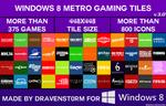 Windows 8 Metro Gaming Tiles by dravenst0rm v3.0 by dravenSt0rM