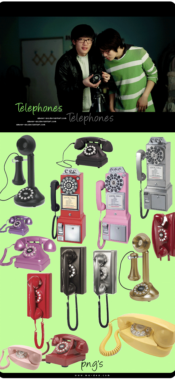 Telephones png's by AmEeR-Sa