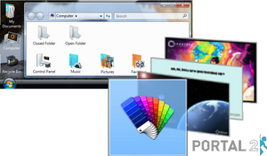 Windows 7/8.x: Portal 2 Theme Pack