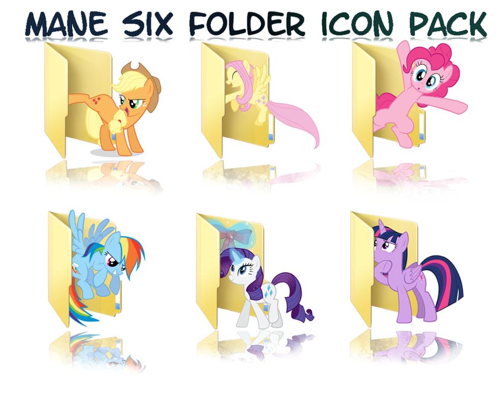 Mane Six folder icon Pack by Ferasor