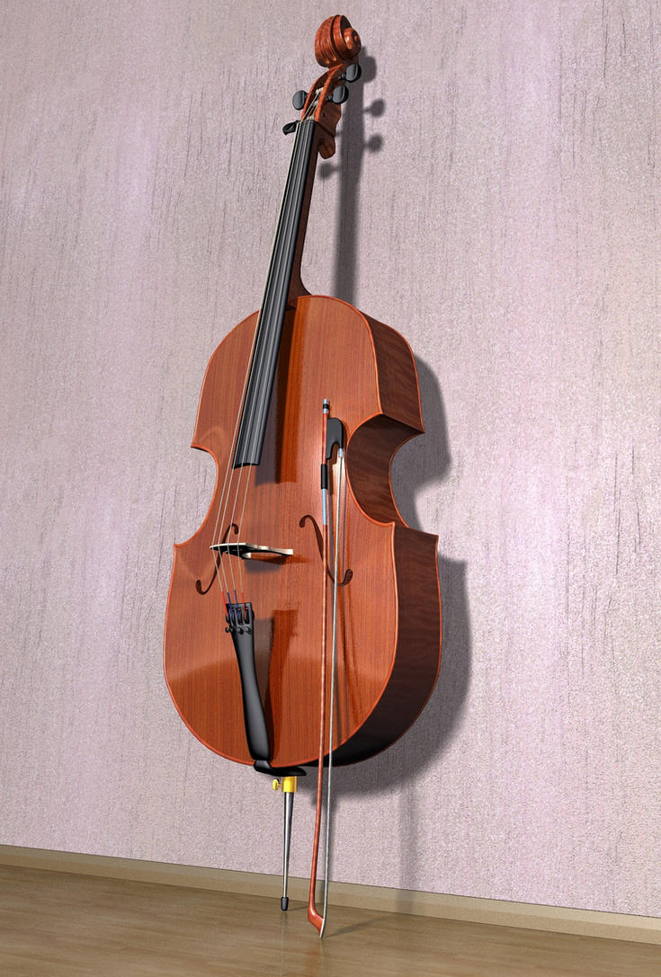 Cello 3d Model by xmas-kitty