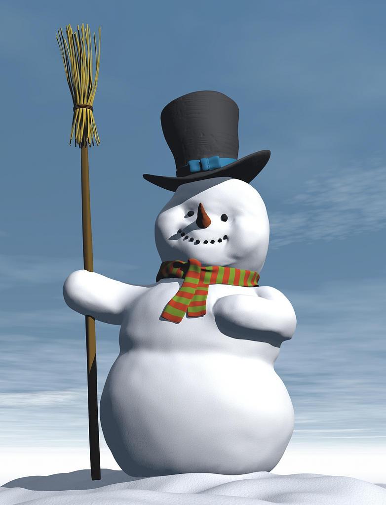 Snowman 3d Model by xmas-kitty