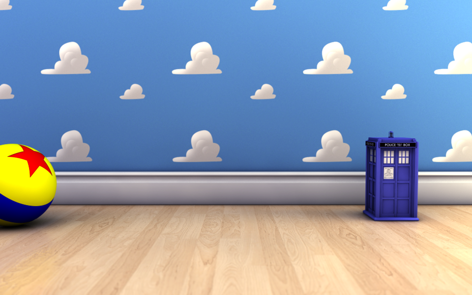 Andy's Room with the TARDIS by quells on DeviantArt
