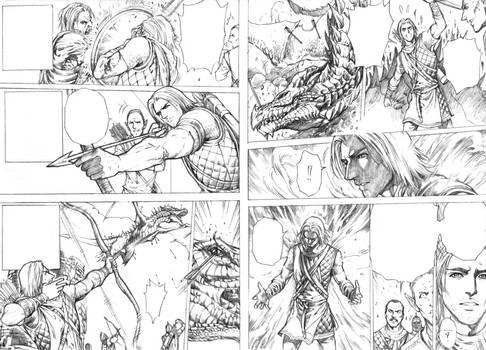 Master and Argis comic (First Dragon kill).
