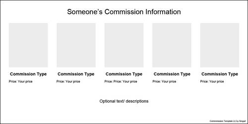 Free Commission Template by Singarl