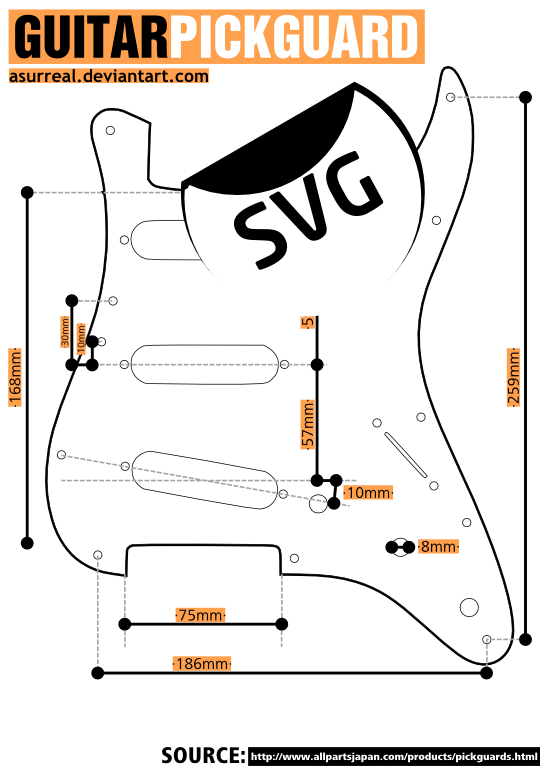 Pickguard Template by asurreal on DeviantArt