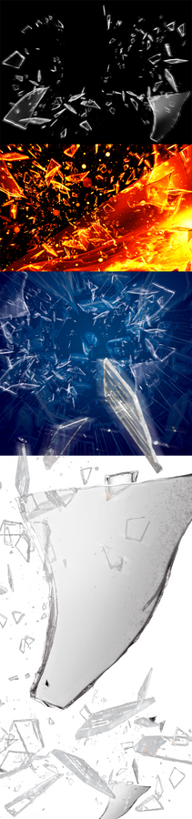 Shattered Glass layered psd stock