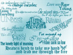 15 Large text brushes - Fallen