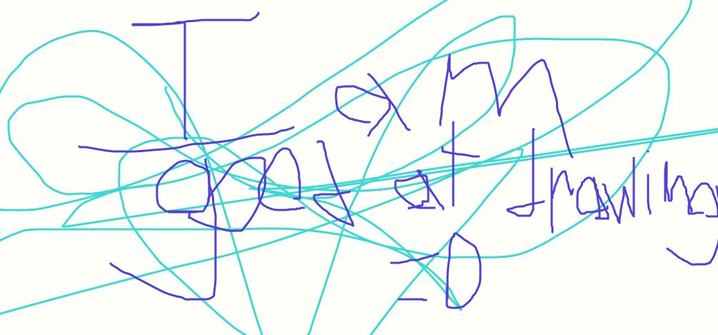 I iz good at drawing...