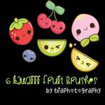 Kawaii Fruits Photoshop Brushes