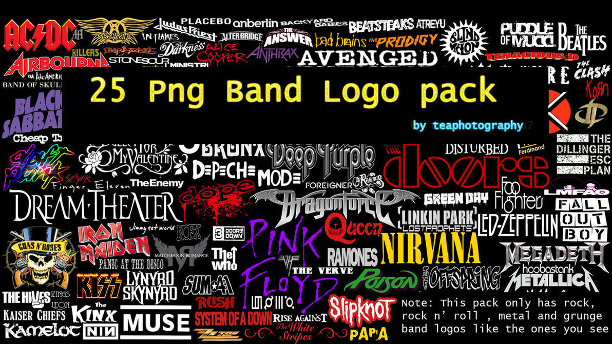 how to draw band logos