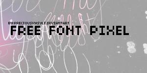 free font pixel by preciousvhstyle