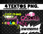 4 textos PNG