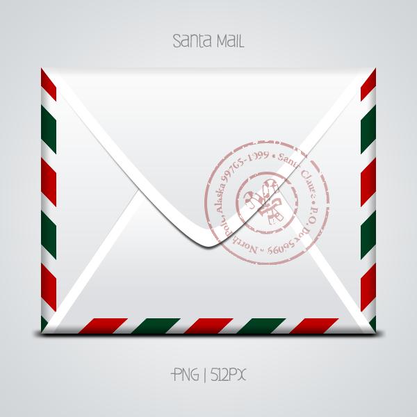 Santa Mail. Png And Psd