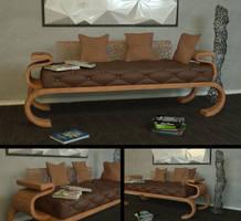 Free Contemporary Sofa Scene by LuxXeon